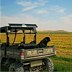 AEGIS John Deere Gator Spoiler for Roll Bar Systems - UTVSPOILER