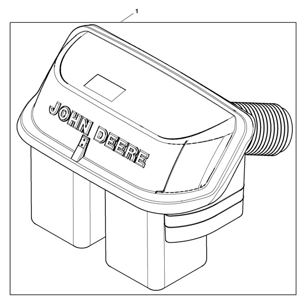 John Deere 6.5-bushel 2-Bag Material Collection Hopper Assembly ...