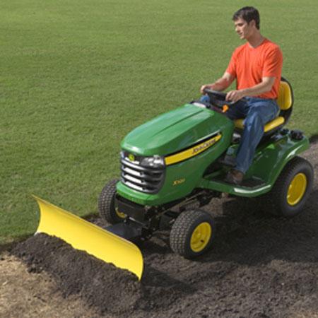 john deere 44 inch front blade for x300 series tractors