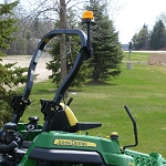 John Deere ROPS Mounted Beacon Light Kit - LP40112