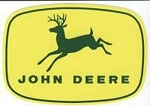 John Deere 4-Leg Leaping Deere Decal Green Yellow
