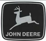 John Deere Leaping Deere Trademark Decal 4.00-in x 3.468-in - JD5274