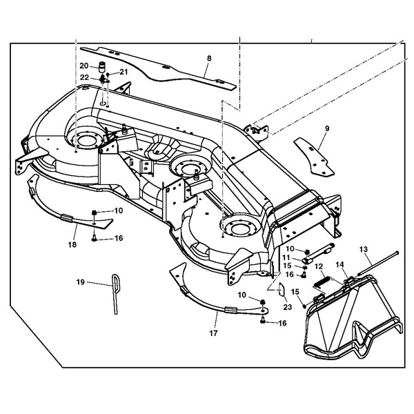 Craftsman 247 288851 Parts further Front Wheels Axle Tie Rod Steering also Jcb Skid Steer Parts Diagram together with Craftsman Ztl 7000 Parts further Transmission Drive Belt Fits Husqvarna Cth163t Cth173 Cth174 Hydro Models Also Jonsered Mcculloch Partner Mowers Replaces 532441834 583560601 762 P. on new john deere lawn tractor
