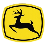 John Deere Leaping Deere 2000 Trademark Logo Decal Black Yellow