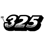 John Deere 325 Model Number Decal (2 required) - M135982