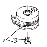 John Deere Electromagnetic PTO Clutch Assembly - AM121972