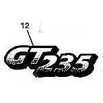 John Deere GT235 Model Number Decal (2 required) - M126056