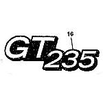 John Deere GT235 Model Number Decal (2 required) - M146010