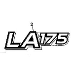 John Deere LA175 Model Number Decal (2 required) - GX22698