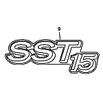 John Deere SST15 Model Number Decal (2 required) - M146783