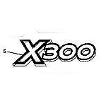 John Deere X300 Model Number Decal (2 required) - M152341