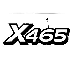 John Deere X465 Model Number Decal (2 required) - M142237