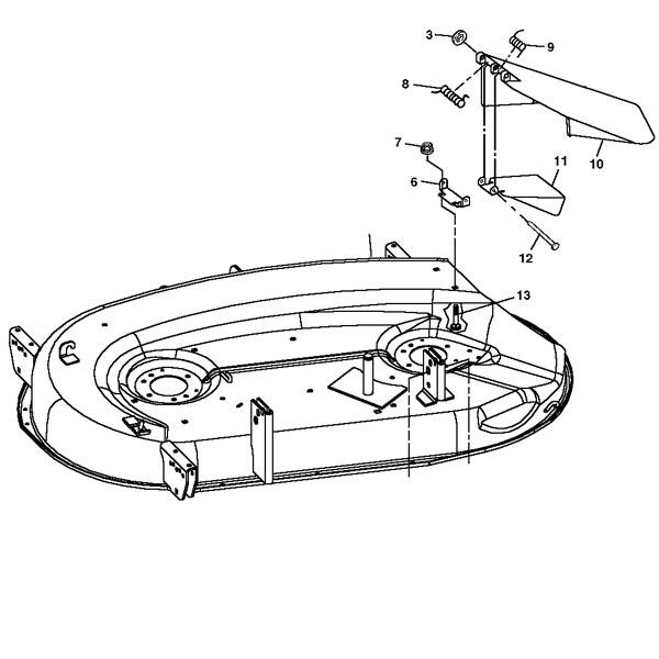 John Deere 42C Mower Deck Housing - AM128570