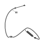 John Deere PTO Control Cable - GY21641