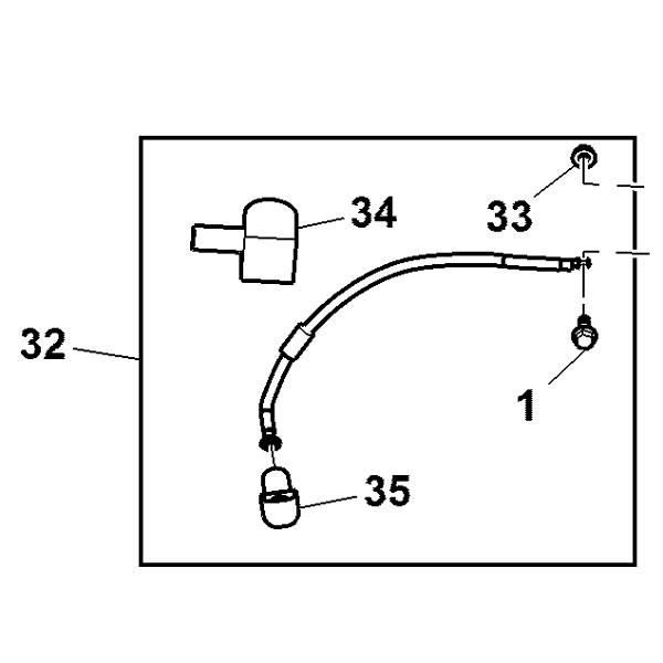 John Deere Positive Battery Cable Am144848