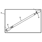 John Deere Front Drive Shaft Kit - LVA13878