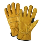 John Deere Men's Grain Cowhide Driver Glove - LP42383 - LP42382
