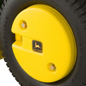 John Deere 50-lb Plastic-Shell Rear Wheel Weight Kit - BM17976