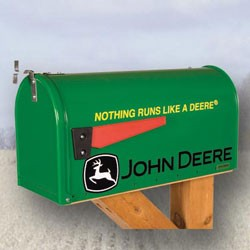 "John Deere ""Nothing Runs Like a Deere"" Mailbox - DGRMBJDRUNS"
