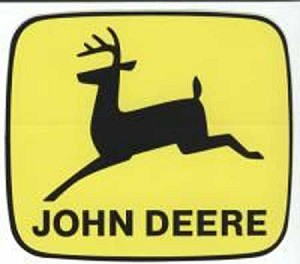 John Deere Leaping Deere Trademark Decal 2.00-in x 1.732-in - JD5232
