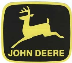 John Deere Leaping Deere Trademark Decal