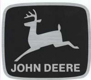 John Deere Leaping Deere Trademark Logo Decal