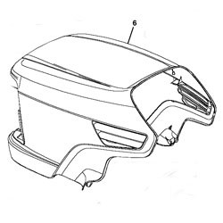 John Deere Lawn and Garden Tractor Hood - See product details for model information - AM132689