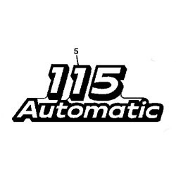 John Deere 115 Model Number Decal (2 required) - GX21864