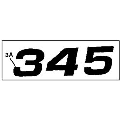 John Deere 345 Model Number Decal (2 required) - M118872