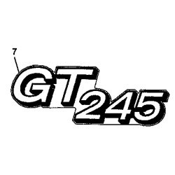 John Deere GT245 Model Number Decal (2 required) - M146426