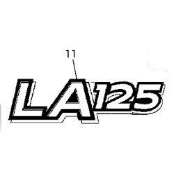 John Deere LA125 Model Number Decal (2 required) - GX22695