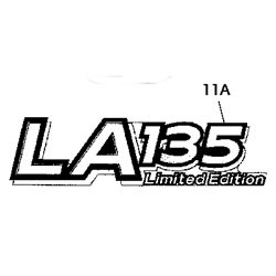 John Deere LA135 Limited Edition Model Number Decal (2 required) - GX22727