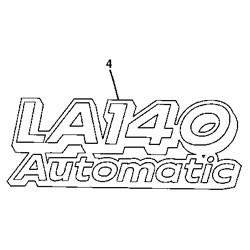 John Deere LA140 Model Number Decal (2 required) - GX22469