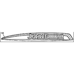 John Deere Left Hand Hood Stripe Decal - M130721