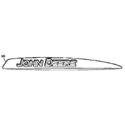 John Deere Left Hand Hood Stripe Decal - M146863