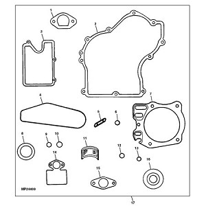 John Deere Engine Gasket Set - AM130362