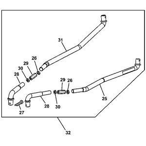 John Deere Adjustable Tie Rod Update Kit - AM132040