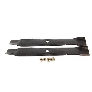 John Deere Mulching Blade Kit For 42C Mowers (Includes 2 Blades and Hardware) - AM141033