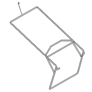 John Deere Grass Catcher Frame - GX23716