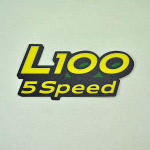 John Deere L100 Model Number Decal (2 required) - GX21154