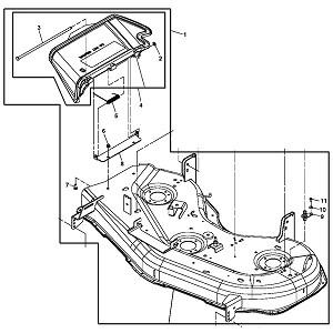 john deere 48 inch mower deck housing am140588. Black Bedroom Furniture Sets. Home Design Ideas
