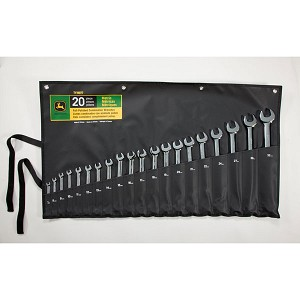 John Deere Metric 20-piece Full Polished Combination Wrench Set - TY19977