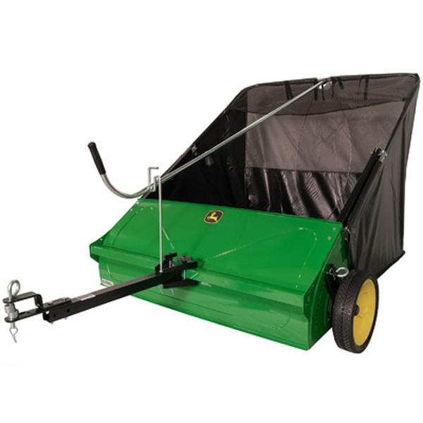 John Deere 44 Sweeper : John deere inch tow behind lawn sweeper lp