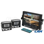 CabCam 7-inch Color Quad LCD Screen Wired System - A-CC7M2CQ