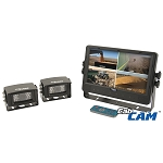 CabCam 9-inch Digital Quad Touch Screen Wired System - A-CCT9M2CQ