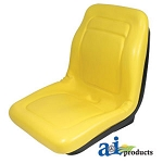 John Deere Aftermarket Complete High-Back Seat Assembly - A-VG11696 - See parts catalog for serial number breaks