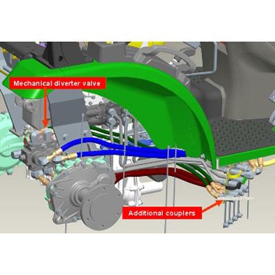 John Deere LoaderMower Mechanical Diverter Valve Kit - LVB25823