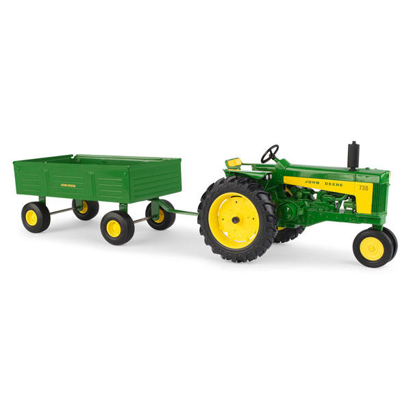 John Deere 1:16 scale 730 Tractor with Barge Wagon Toy - 45686