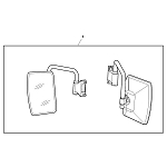 John Deere External Rear View Mirror Kit - LVB24844