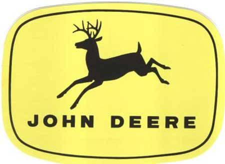John Deere 4-Leg Leaping Deere Trademark Decal 9.00-in x 6.378-in - JD5333